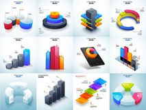 3D illustration of colorful Timeline Infographic set for Busines. S growth statistics Royalty Free Stock Image