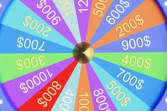 3d illustration colorful wheel of luck or fortune. Roulette fortune spinning wheels, casino wheel. Wheel fortune vector illustration