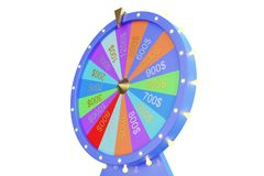 3d illustration colorful wheel of luck or fortune. Roulette fortune spinning wheels, casino wheel. Wheel fortune on royalty free illustration