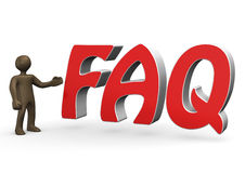 3D Illustration, Comic-figurine, FAQ Stock Images