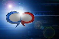 Communication bubbles. 3d illustration of Communication bubbles Royalty Free Stock Photo