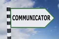 COMMUNICATOR - communication concept. 3D illustration of COMMUNICATOR script on road sign Stock Images