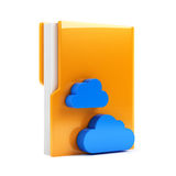Folder with cloud icon Stock Photo