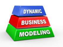 3d dynamic business modeling Stock Images