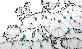 World map and networking Stock Images
