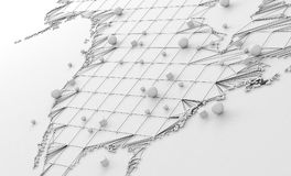World map and networking Stock Photos