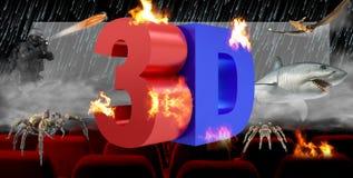 3D illustration, concept num?rique de technologie d'industrie du cin?ma 3D illustration de vecteur