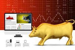 Concepts for Stock market News. 3d illustration of concepts for Stock market News Stock Photography