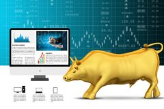 Concepts for Stock market News. 3d illustration of concepts for Stock market News Stock Image