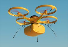 Package Delivery by Drone Stock Images