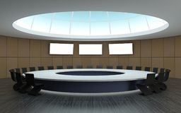 Round conference room for meetings Royalty Free Stock Photos
