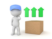 3D Illustration conveying the concept of express fast shipping Stock Photo