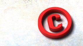 3D Illustration of Copyright Symbol Vector Illustration