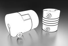 3d illustration of coupling. On metallic Stock Photos