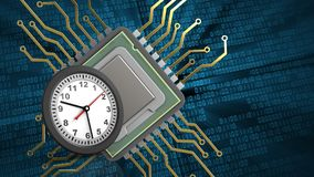 3d clock Royalty Free Stock Photo