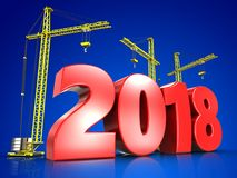 3d red 2018 year Royalty Free Stock Photography