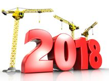 3d red 2018 year Royalty Free Stock Photos