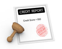 3d excellent credit score report Royalty Free Stock Photography