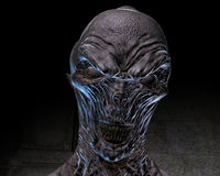 3D Illustration of a creepy Ghoul Stock Photo