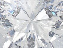 3D illustration crop diamond zoom Royalty Free Stock Image