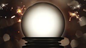 A crystal ball fortune teller. 3d illustration of a crystal ball fortune teller royalty free illustration