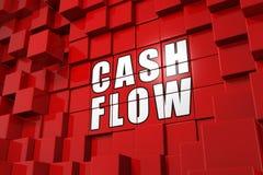 3D Illustration Cube Concept - cashflow Stock Images