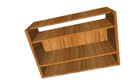 3d illustration. Cupboard for shoes. Construction on white background. Close-up Royalty Free Stock Images
