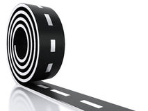 3d illustration of curved road. Stock Photo