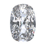 3D illustration cushion diamond stone. On a white background Royalty Free Stock Photography