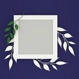 3d Illustration, 3d übertragen, Zusammensetzung von rechteckigen leeren Fotorahmen auf einem abstrakten Hintergrund Stockfotos