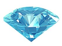 3d illustration. Blue diamond isolated on white background vector illustration
