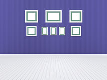 3d illustration, 3d render, composition of rectangular empty photo frames on an abstract background. With a periodic linear pattern Stock Photography