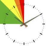 3d illustration, 3d render,  `Deadline time is right` Stock Images