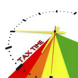 3d illustration, 3d render,  `Tax time is right` Stock Photo