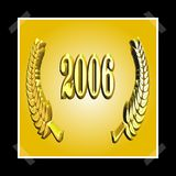 3D Illustration: A laurel wreath with the number 2006, symbol image for a jubilee, anniversaries, successes royalty free illustration
