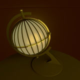 3d illustration, 3d rendering. Vintage lantern table lamp, made in the form of an ancient globe. Stock Images