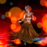 3D Illustration of a dancing Girl Royalty Free Stock Photography