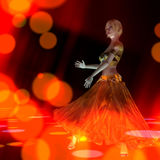 3D Illustration of a dancing Girl Royalty Free Stock Photo