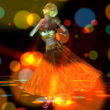 3D Illustration of a dancing Girl Stock Photography