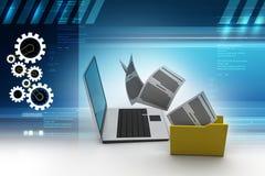 Data transferring. 3d illustration of Data transferring Stock Image