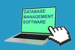 Database Management software concept Royalty Free Stock Images