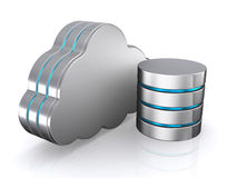 3D illustration of Database storage concept, cloud computing. Stock Photos