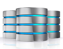 3D illustration of Database storage concept, cloud computing. Royalty Free Stock Photo