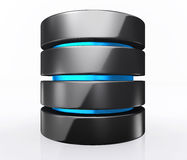 3D illustration of Database storage concept, cloud computing. Stock Photo