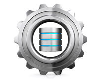 3D illustration of Database storage concept, cloud computing. Royalty Free Stock Photography