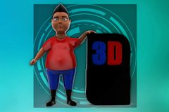 3d illustration de l'homme 3d Photographie stock