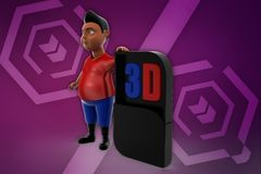 3d illustration de l'homme 3d Photographie stock libre de droits