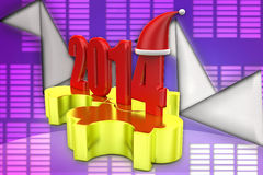 3d illustration de puzzle de Noël 2014 Photographie stock