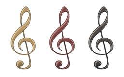 3d illustration of decorative treble clef Stock Photo