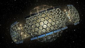 3D Illustration of an outer space honeycomb structure Royalty Free Stock Image
